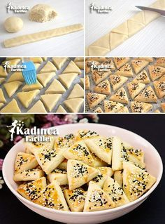 Salty Cookies Recipe in the Mouth, How to Make? - Womanly Recipes - Salty Cookies Recipe in the Mouth - Salty Biscuit Recipe, Salty Cookies Recipe, Tea Time Snacks, Galletas Cookies, Recipe Mix, Turkish Recipes, Cookie Recipes, Bakery, Food And Drink