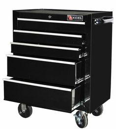 Garage Tool Storage Cabinet Drawer Roller Caster Nonslip Steel Locking 26 Inch #Excel #Garage #Tool #Storage #Cabinet