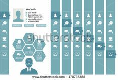CV design elements pack with front page set up. by David Darko, via Shutterstock