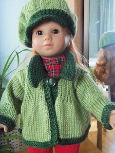 knitted dolls Ravelry: American Girl Flared Sweater pattern by Janet Longaphie Free Pattern Knitting Dolls Clothes, Ag Doll Clothes, Crochet Doll Clothes, Doll Clothes Patterns, Dress Patterns, Knitted Doll Patterns, Knitted Dolls, Knitting Patterns, Knitting Ideas