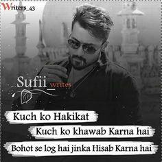 Good shayari in Hindi Bad Boy Quotes, New Love Quotes, Ex Quotes, Love Husband Quotes, Joker Quotes, Hindi Quotes, Famous Quotes, Quotes In Hindi Attitude, Attitude Thoughts