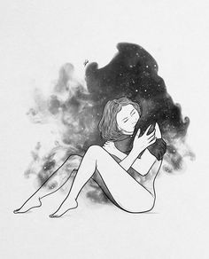 Painting Love Couple, Good Night Moon, 2d Art, Vintage Images, Love Art, Pencil Drawings, Art Sketches, Illustration, Fantasy Art