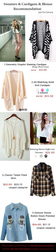 20.9.2014 weekly recommendation #sweater #cardigan #blouse @supermomblog81 @vampyra01 @hfze @sassysusie @jacklondon90834
