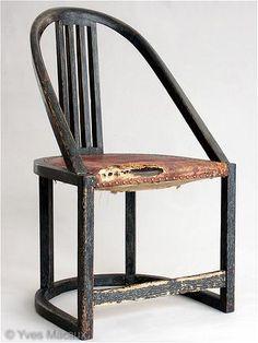 Josef Hoffman, armchair for the drawing room of the Wiener Werkstätte. 1904. Executed by the Wiener Werkstätte