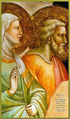 São Joaquim e Santa Ana, pais da Virgem Maria, padroeiros dos avós.