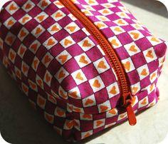 Tungelunden: sew Box bag sy taske toilettaske