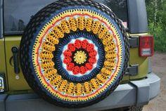 CUSTOM Crochet Spare Tire Cover