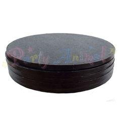 "ROUND Drum Cake Board - 10"" (254mm) Black Foil - Pack of 5"