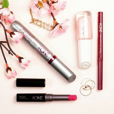 The One Make up products -long lasting lipstick -lash extension mascara -volume blast mascara
