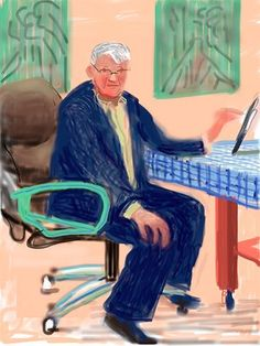 David Hockney, Self Portrait, 25 March No. 3 Courtesy the National Gallery of Victoria ©David Hockney. David Hockney Ipad, David Hockney Art, David Hockney Paintings, David Hockney Portraits, Pop Art Movement, Ipad Art, The Guardian, Art Gallery, Dibujo