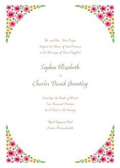 Wedding Invitations - Sophia