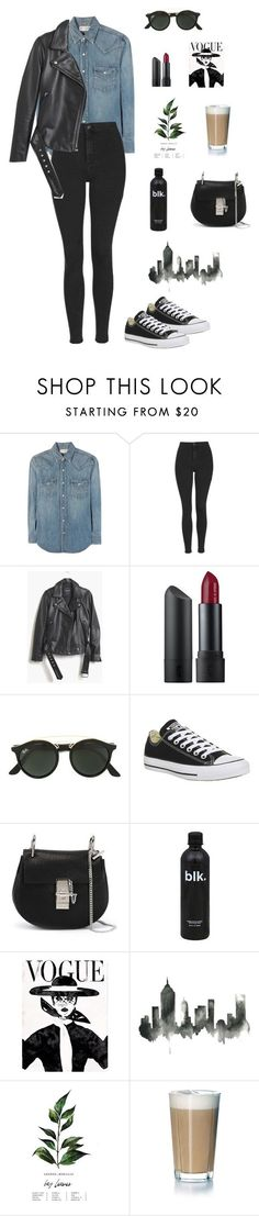 """Untitled #34"" by weloveyourname ❤ liked on Polyvore featuring Yves Saint Laurent, Topshop, Madewell, Bite, Ray-Ban, Converse, Chloé and Rosendahl"