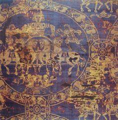 Sudario di Carlomagno colorato con porpora e oro