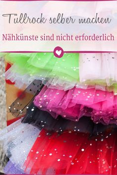 Do tulle skirt yourself: Do a tutu yourself without sewing - Karneval, Fastnacht und Fasching - Diy Projects For Kids, Diy Sewing Projects, Sewing Projects For Beginners, Diy For Kids, Carnival Dress, Diy Carnival, Make Your Own Clothes, Diy Clothes, Mascarilla Diy