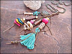 Boho Necklace  Boho Jewelry  Yoga Necklace  by HandcraftedYoga, $36.00