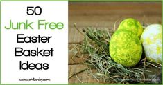 I am so tired of Easter baskets full of junk...junk food and junk toys. Enjoy this roundup of junk free Easter basket ideas!
