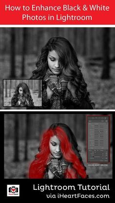 How to Enhance Your Black & White Photos in Lightroom - Photo Editing Tutorial by Jessica Thew for I Heart Faces Photography Blog