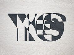 YESNO Letterpress designed by Andrew Firstenberger. the global community for designers and creative professionals. Typography Letters, Lettering, Library Logo, Pre Raphaelite Brotherhood, Design Art, Graphic Design, Writings, Seals, Letterpress