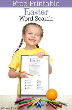 Looking for a fun Easter activity for the kids? Try this Printable Easter Word Search to keep them entertained. Easter Activities, Easter Crafts For Kids, Fun Activities, Creative Activities, Easter Ideas, Fun Printables For Kids, Free Printables, St Patrick's Day Words, Diy Easter Decorations