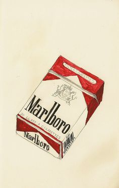 Marlboro by KelseyFlinker Aesthetic Objects, Aesthetic Art, Cigarette Drawing, Art Sketches, Art Drawings, Cigarette Aesthetic, Posters Vintage, Aesthetic Painting, Pencil Art