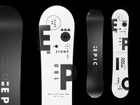 Epicurrence Snowboard - Be Epic. designed by MadeByStudioJQ. Connect with them on Dribbble; the global community for designers and creative professionals. Packaging Design, Branding Design, Logo Design, Snowboard Design, Design Thinking, Embedded Image Permalink, Typography, Layout, Instagram Posts