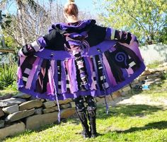 recycled elf coat....earth friendlypatchworkpixie by squashdesigns, $330.00