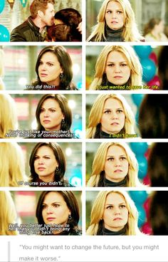 Aww! Man! Come on Emma! They said not to change the past! So you bring home some random woman and ruin Regina's happy ending!