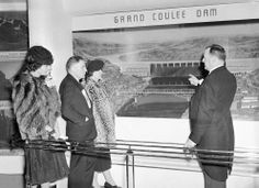 The 1939 New York World's Fair - In Focus - The Atlantic Prominent representatives of the state of Washington look at a diorama of Grand Coulee dam, part of their state's exhibit at the New York World's Fair on May 1, 1939, after opening day ceremonies on April 30. From left are Mrs. E.B. McGovern, U.S. Senator Homer Bone, Mrs. Bone, and Comm. E.B. McGovern, representing the governor.