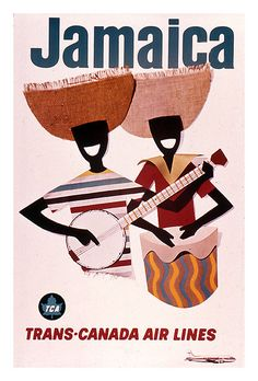 Vintage Poster / Retro Poster Jamaica Trans-Canada Air Lines Caribbean Art, Caribbean Cruise, Jamaica Travel, Air Jamaica, Airline Travel, We Are The World, Vintage Travel Posters, Vintage Airline, Advertising Poster