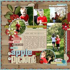 Apple Orchard Picking!  digital scrapbook layout by cindys732003 featuring Apple Orchard by Sahlin Studio