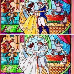 #Repost @theenchantress1991 with @repostapp ・・・ A before/after of my work ! #theenchantress1991 #tenten33 #beautyandthebeast #beautyandthebeast1991 #beautyandthebeast2017 #stainedglass #emmawatson #danstevens #belle #theprince #celebration #celebrationdress #costume #comparaison #final #artwork #disney