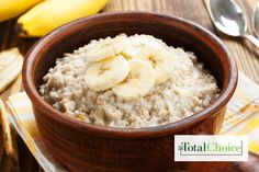 Total Choice Quickie Banana Steel Cut Oats: These oats are ready before you are, perfect to grab as you're walking out the door. Eat this recipe with the Total Choice...