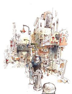 Wonderful urban sketch