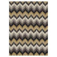 Handcrafted rug with a chevron motif.  Product: RugConstruction Material: 100% PolyesterColor: Grey a...