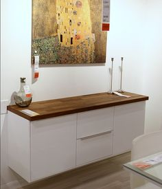 IKEA: Sektion cabinet floating with walnut butcher block