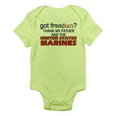 CafePress Thank My Father Got Freedom USMC Infant Creeper Infant Bodys - 18-24M Kiwi CafePress,http://www.amazon.com/dp/B00EGL6MLA/ref=cm_sw_r_pi_dp_YaHvsb18S5V0P6EE