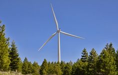 Wind energy electrical generation in Shasta County. Image 2013 by Skip Murphy