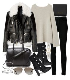"""Untitled #19295"" by florencia95 ❤ liked on Polyvore featuring Yves Saint Laurent, Paige Denim, Isabel Marant, Givenchy, Burberry, Tom Ford and Cartier"