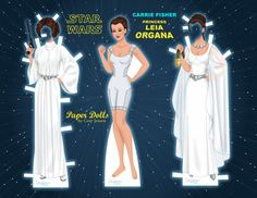 My Princess Leia paper doll! Download the full set at Paper Dolls by Cory on Facebook! :)