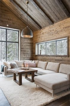 Chalet Design, Chalet Style, Lodge Style, Living Room Decor Cozy, Lamps For Living Room, Cottage Living, Cabin Interiors, Rustic Interiors, Home Interior Design