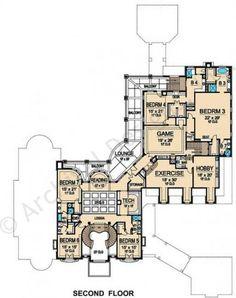 Bellerive House Plan - Second Floor Plan