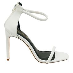 Angelica-1A White Single Sole High Heels - Traffic Shoe
