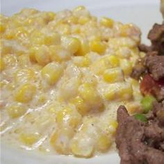 "Slow Cooker Creamed Corn | ""The best creamed corn ever. I followed the recipe exactly. Everyone wanted seconds and raved about it."""