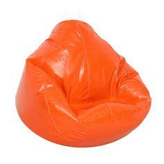 "Kids Large Wetlook Beanbag Chair - Blaze Orange (Blaze Orange) (108"" Circumference)"