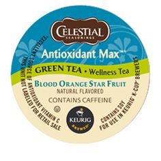 Antioxidant Max™ Green Tea Blood Orange Star Fruit Tea by Celestial Seasonings® - Keurig.com