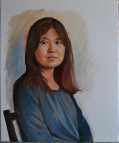 Peter Valve: Portrait of my wife, oil painting