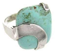 Sterling Silver Southwest Kingman Turquoise Ring Size 6-1/2 IS61326