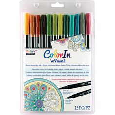 Color In Double-Ended Markers 12/Pkg-Natural