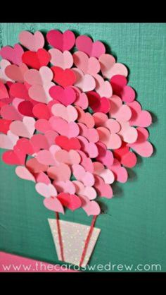 Hearts with words of love, one a day for Valentine's Day! Feb 1-14