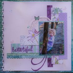 """Kaisercraft """"Fairy Dust"""" Scrapbook Layouts, Scrapbook Pages, Paper Art, Paper Crafts, Baby Girl Scrapbook, Fairy Dust, Scrapbooks, Envelopes, Fairies"""